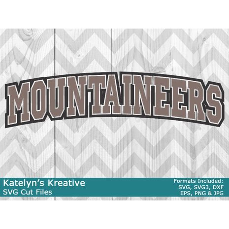 Mountaineers Arched SVG