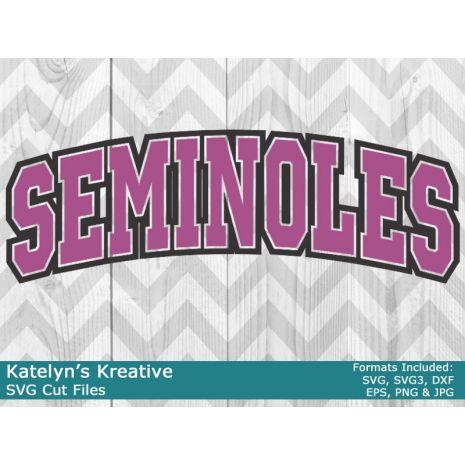 Seminoles Arched SVG
