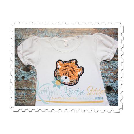 Tiger Head Applique