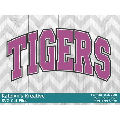 Tigers Arched SVG