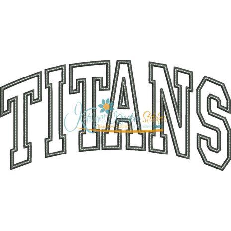 Titans Arched Applique Snap Shot