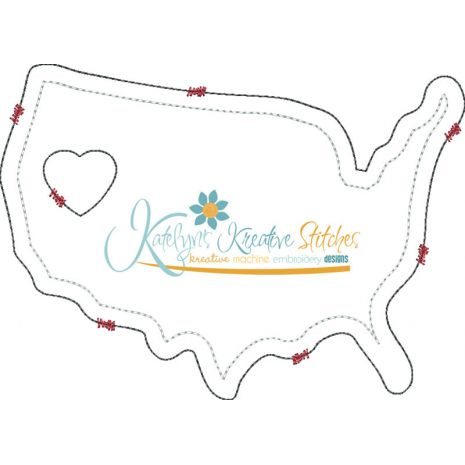 United States Distressed Applique Snap Shot