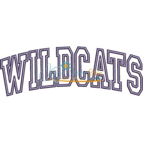 Wildcats Arched Applique Snap Shot