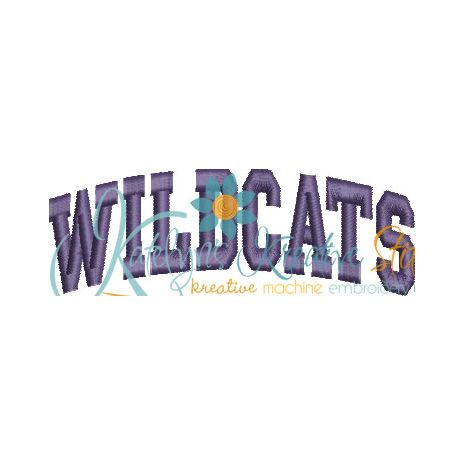 Wildcats Arched 4x4 Satin Snap Shot