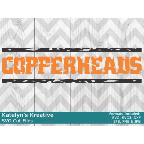 Copperheads Distressed SVG Files