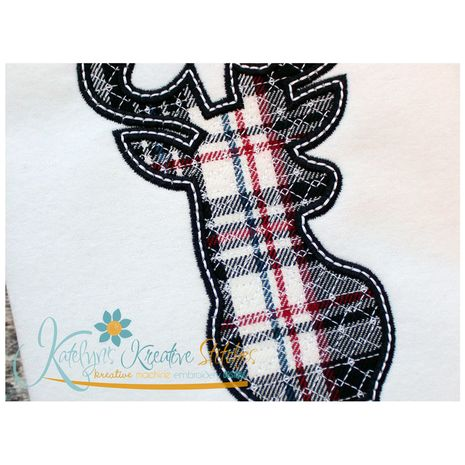 Deer Silhouette Applique Close Up