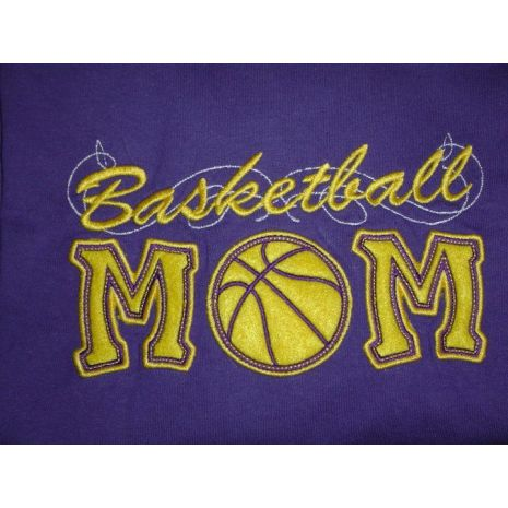 Basketball Applique Mom with a Twist