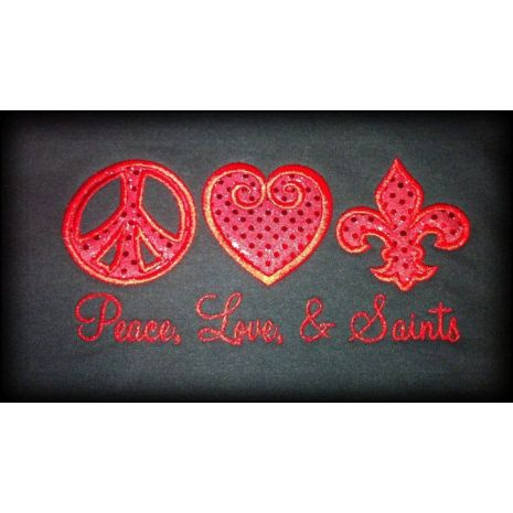 Peace Love Fleur de Lis 1